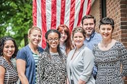 JUSTIN DRISCOLL - Charlotte Bridge Home staff (from left): Charisse Byron, Tiann Shade, Tyleshia Bessant, Melissa Raymond, Rachel Newberry, Blake Bourne, Cindi Basenspiler