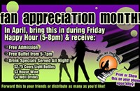 April is Fan Appreciation Month at Howl At The Moon