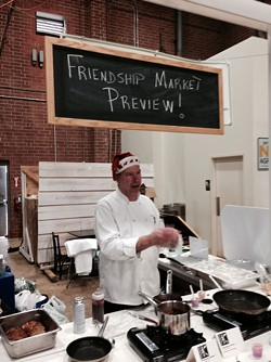 MADDIE SEGAL/FRIENDSHIP TRAYS - Chef Tom Carrig at Atherton Market (center)