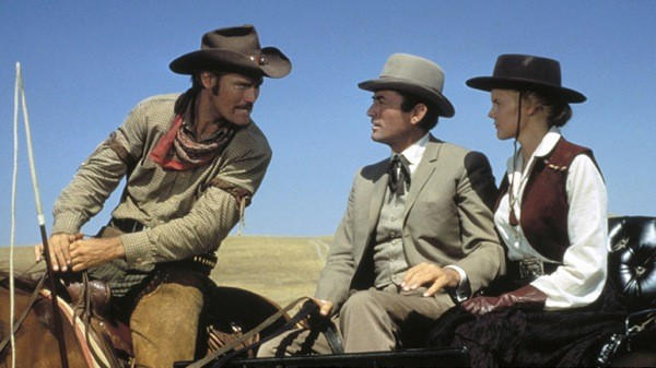 Chuck Connors, Gregory Peck and Carroll Baker in The Big Country (Photo: MGM)