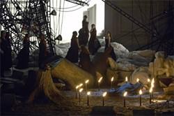MICHAEL COOPER - Circle of fire surrounds Brünnhilde in final act of Die Walküre.