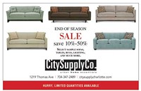 City Supply's end of season sale happening now