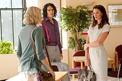 WARNER BROS. - CLASS CONFLICT: Greta Gerwig (left), Russell Brand and Jennifer Garner in Arthur