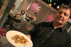 CATALINA KULCZAR - Co-owner Steve Flaugher with NoFo's Shrimp and Grits