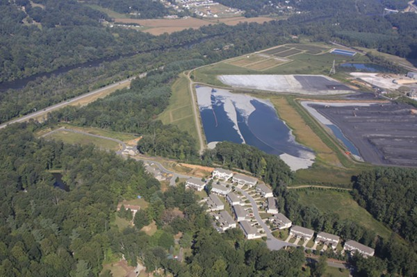 Coal ash ponds near Asheville