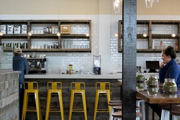 Coffee bar at Lunas Loving Kitchen