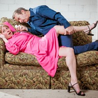 COMPROMISING POSITIONS: Meghan Lowther and Joe Copley in The House of Blue Leaves