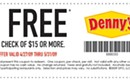 Coupon from Denny's