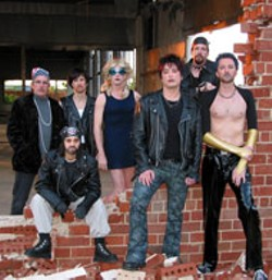 HAPPY CARTER - Craig Spradley, Jeff Lynds, B. Pierce, Billy Ensley, - Ben Jackson, Chip Decker and Matt Olin in ATC's - production of Hedwig and the Angry Inch