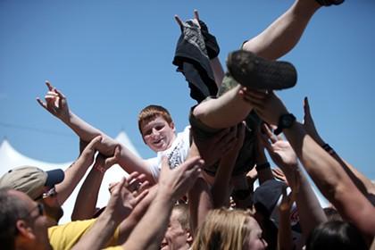Crowdsurfing at Carolina Rebellion 2014