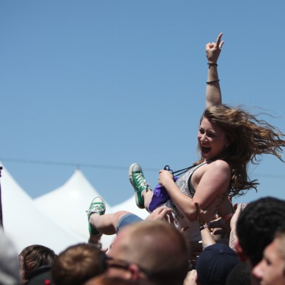 Crowdsurfing at Carolina Rebellion 2014