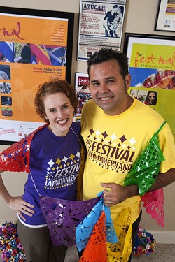ANGUS LAMOND - CULTURE WARRIORS: Tony Arreaza and Jess George of the Latin American Coalition