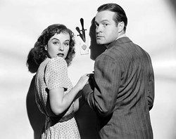 UNIVERSAL - DANGER'S IN THE CARDS: Paulette Goddard and Bob Hope in The Ghost Breakers
