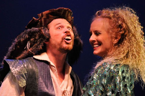David Foubert as Bottom and Kim Ostrenko as Titania in NCSF's A Midsummer Night's Dream;  Photo by Tom Terrell