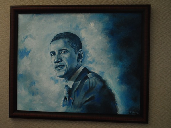 David Fultons Obama portrait