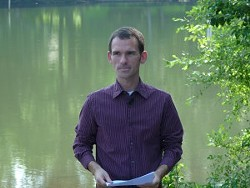 David Merryman, our Catawba Riverkeeper, at Mountain Island Lake in June 2010