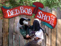 LINDSEY GROSSMAN - Ded Bob and friend, makers of ye fine olde bone/penis - jokes, at the Renaissance Festival