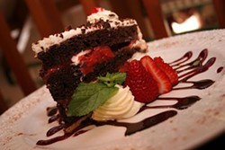 CATALINA KULCZAR - DEEP IN THE DARK FOREST: Black Forest Cake at Waldhorn Restaurant