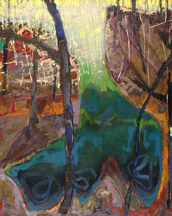 DEEP RIVER 2 Included in Brian Rutenberg's Riverbend exhibit at Jerald Melberg Gallery