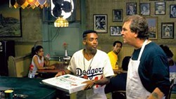 UNIVERSAL - DELIVERING THE GOODS: Spike Lee and Danny Aiello in Do the Right Thing.