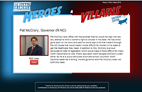 Gov. McCrory: hero or villain?
