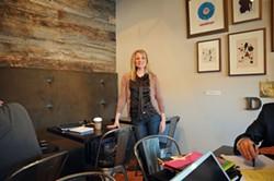 GRAHAM MORRISON - Designer Cindy Urbanik in the recently redone Dilworth Coffee