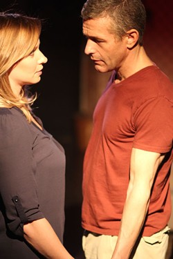 CHARLOTTE'S OFF-BROADWAY/GINNY DARCEY - Don (Bill Reilly) and Catherine (Caroline Renfro) in Rapture, Blister, Burn