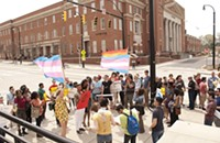 Dozens protest at CPCC for transgender student rights