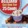 BOGO at Dairy Queen ... for 25 cents