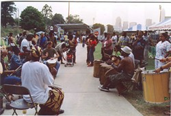 COURTESY DEMETRIA BELL - Drum circle at Independence Park