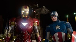 DISNEY & MARVEL - DYNAMIC DUO: Iron Man (Robert Downey Jr.) and Captain American (Chris Evans) in The Avengers