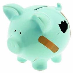 PHOTOS.COM - E-Z RIPOFF: No Band-Aid solution to bad credit for piggy