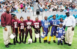 Each year, two Jr. Pee-Wee teams compete in the Sir - Purr Bowl