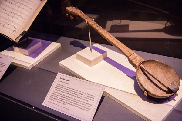 Enslaved Africans brought their music with them to the Americas, making African instruments from materials at hand - a large gourd or a chunk of wood.  - JOE MARTIN