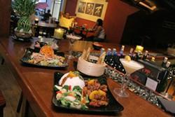 CATALINA KULCZAR - Entrees and martinis at Zyng Asian Grill