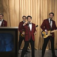 Erich Bergan, Vincent Piazza, John Lloyd Young and Michael Lomenda in Jersey Boys. (Photo: Warner Bros.)