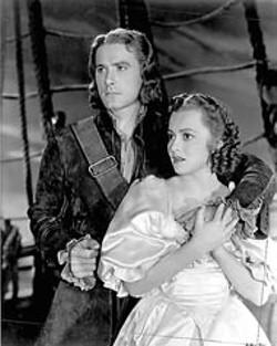 WARNER - Errol Flynn and Olivia de Havilland in Captain Blood