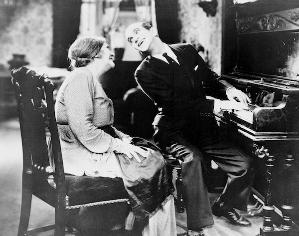 Eugenie Besserer and Al Jolson in The Jazz Singer (Photo: Warner Bros.)