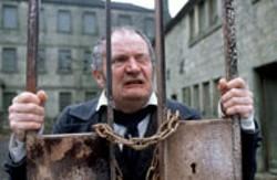 UNITED ARTISTS - EYESORE Wackford Squeers (Jim Broadbent) is the - enemy at the gate in Nicholas Nickleby