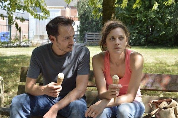 Fabrizio Rongione and Marion Cotillard in Two Days, One Night (Photo: IFC Films)