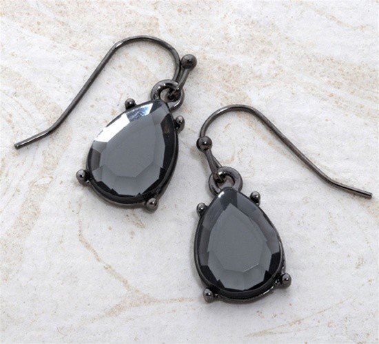 Faceted Glass Earrings - The Jewel Box