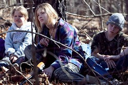 SEBASTIAN MLYNARSKI / ROADSIDE ATTRACTIONS - FAMILY CARE: Ree (Jennifer Lawrence) looks after her younger siblings (Ashlee Thompson and Isaiah Stone) in Winter's Bone.