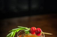 Featured Cocktail: Barrel-Aged, Rosemary, Maple Duck Manhattan