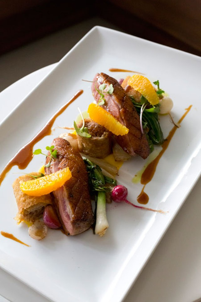 Featured Dish: Modern Duck a l'Orange at Lumiere | Eat My ...
