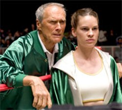 WARNER BROS - FIGHT CLUB Clint Eastwood and Hilary Swank in Million Dollar Baby