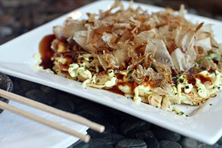 ASHLEY GOODWIN - FISH-JACKS?: The Okonomiyaki Japanese pancake