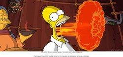 FOX - FLAME ON: Homer fires up the screen in The Simpsons Movie