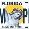 Florida plates show Jesus with blonde mullet