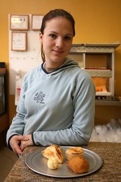 CATALINA KULCZAR - FLOUR FLIPPER: Acyra Godoy with her Brazilian bakery items
