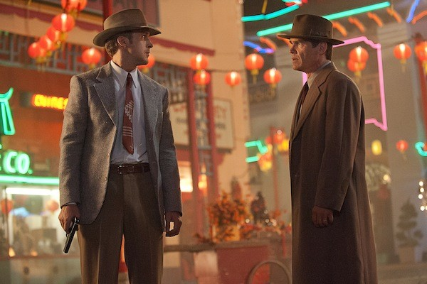 FORGET IT, JERRY, IT'S CHINATOWN: Elite cops Jerry Wooten (Ryan Gosling) and John O'Hara (Josh Brolin) find themselves in a familiar L.A. setting in Gangster Squad. (Photo: Warner Bros.)